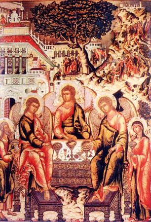 Святая Троица со сценами бытия