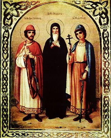 День почитания благоверного князя Феодора Ярославского (брата святого Александра Невского), Новгородского (1233г)