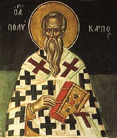 Sfîntul Mucenic Policarp, Episcopul Smirnei