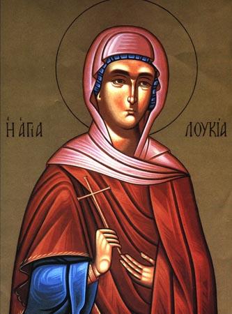 Sfînta Muceniţă Lucia fecioara