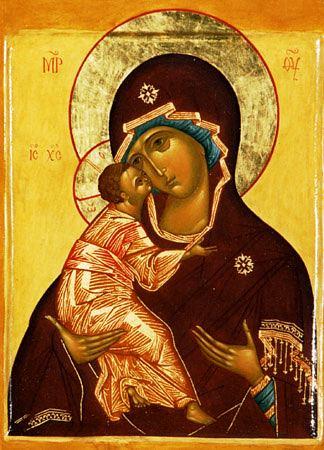 Icoana Preacuratei Fecioare Maria de la Vladimir