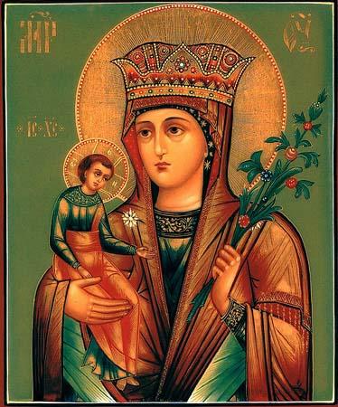 В народе существует поверье, что Икона Божьей Матери Неувядаемый Цвет помогает девушкам и женщинам сохранять красоту...
