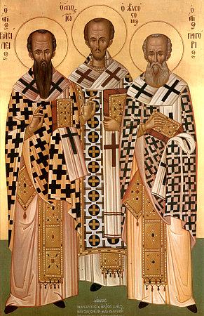 Sfinţii Trei Ierarhi, Vasile cel Mare, Grigorie Teologul şi Ioan Gură de Aur