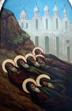 Cuvioşii Părinţi ucişi în Muntele Sinai
