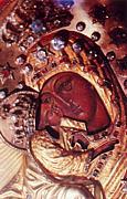 Почаевская икона Божией Матери. Фрагмент