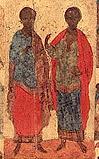 Святые бессеребреники и чудотворцы Косма и Дамиан, в Риме пострадавшие