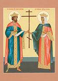 Свв. равноап. царь Константин и царица Елена