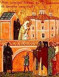 Святый патриарх Тихон в заточении в Донском монастыре