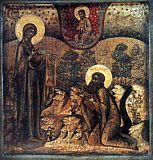 Явление Божией Матери прп. Корнилию Комельскому.