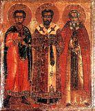 Димитрий Солунский, Мартирий Зеленецкий и Иоанн Златоуст