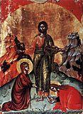 Мария и Марфа у ног Спасителя