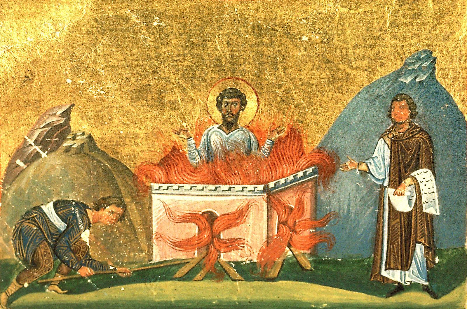 СВЯТОЙ ВЕЛИКОМУЧЕНИК ФЕОДОР ТИРОН: Закон Небесный выше смерти земной