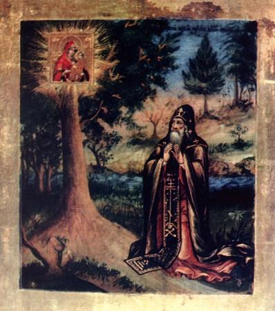 Явление Югской иконы Божией Матери преподобному Дорофею