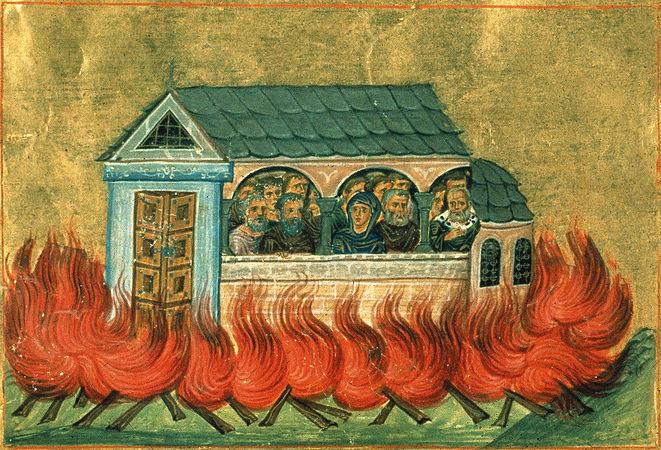 Мученики 20000, в Никомидии в церкви сожженные
