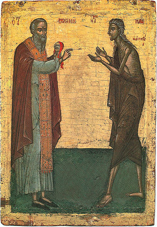 Преподобные Мария Египетская и Зосима Палестинский