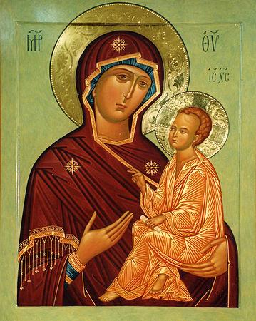 Иконой Божией Матери «Тихвинская»