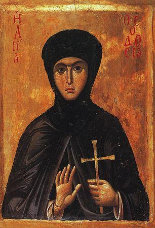 Преподобномученица Феодосия Константинопольская