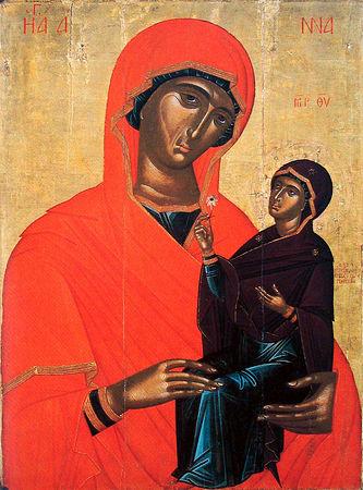 Святая праведная Анна с Пресвятой Девой Марией