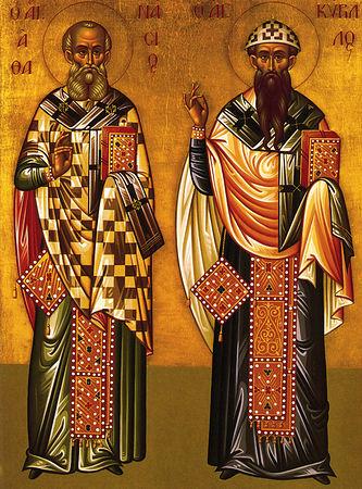 Святители Афанасий и Кирилл Александрийские