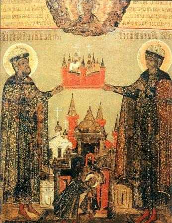Страстотерпцы Борис и Глеб с Борисоглебским монастырем