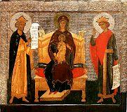 Икона 'Богоматерь на престоле с Давидом и Соломоном'