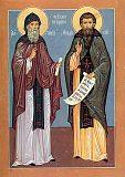 Преподобные Антоний и Феодосий Печерские.