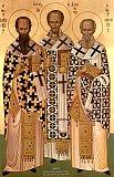 Василий Великий, Иоанн Златоуст и Григорий Богослов.