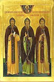 Преподобные Псково-Печерские - Марк, Иона, и преподобномученик Корнилий.