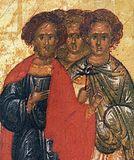 Мчч. Агапий, Пуплий, Тимолай.