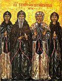 Преподобный Ксенофонт, Мария и их чада Иоанн и Аркадий.