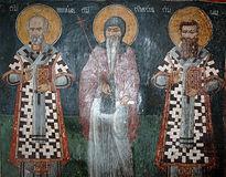 Свт.Николай, Мирликийский чудотворец, прп.Симеон Мироточивый (Неманя) и свт.Савва, архиепископ Сербский