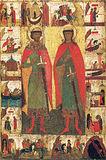 Мученики благоверные князья Борис и Глеб, во Святой Крещении Роман и Давид