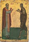Преподобные Мария Египетская и Зосима Палестинский.