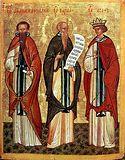 Преподобный Афанасий Афонский, Варлаам Индийский, Иоасаф Индийский