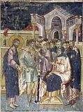Христос на допросе у первосвященника Каиафы