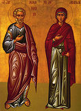 Праведные Иоаким и Анна.