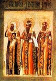 Святители Иоанн Новгородский, Варсонофий Тверской и Серапион Новгородский