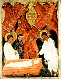 Жены-мироносицы у Гроба Господня.