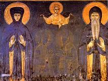 Симеон Мироточивый (Стефан Неманя) и прп. Анастасия