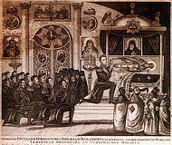 Поклонение императора Николая I мощам святителя Митрофана Воронежского
