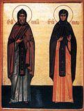 Преподобные Кирилл и Мария.