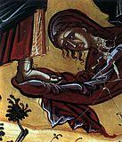 Мария Вифанская омывает ноги Спасителя